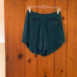 Rachel Antonoff Silk Shorts